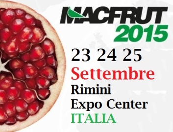 MACFRUT 2015 - Rimini - Expo Center - 23, 24 e 25 settembre